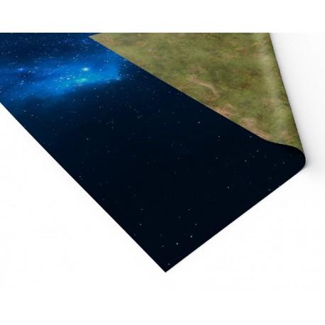 "Blue Nebula 72"" x 36"""