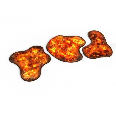 Neoprene 2D Terrain - Burning Forest