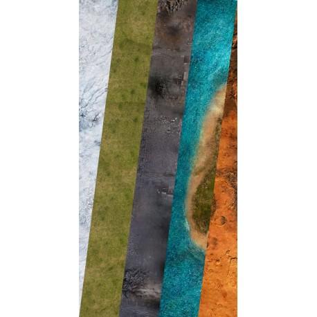 """Customized two-sided playmat - 72"""" x 36"""" / 183cm x 91,5cm"""